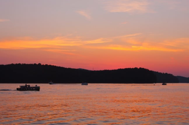 Sunset on Lake Allatoona, Georgia