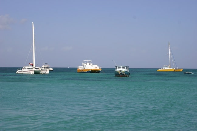 Boats in Aruba