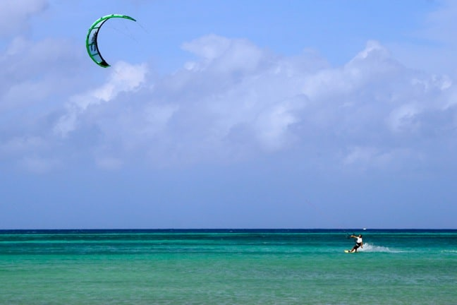 Kitesurfing, one of the Top 20 Things to Do in Aruba