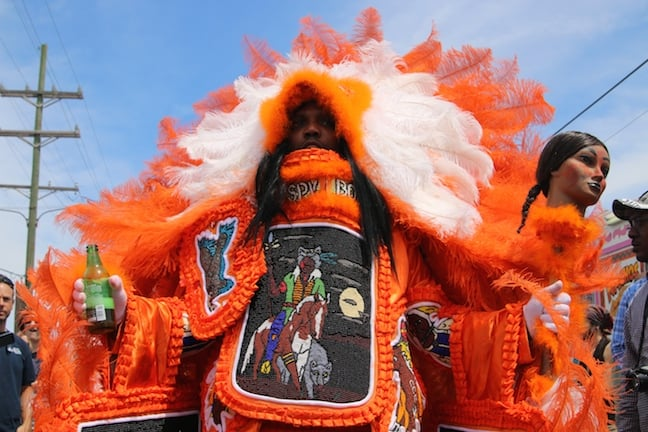 Mardi_Gras_Indians on Super Sunday in New_Orleans