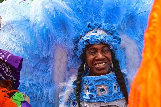 Mardi Gras Indian Queen in New Orleans
