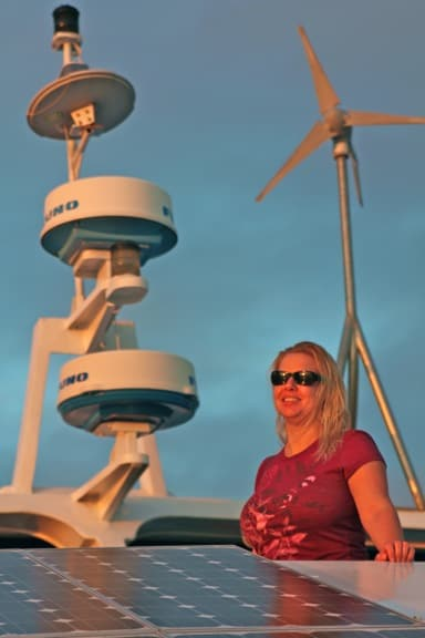 Solar Panels on Ecoventura's Yacht in the Galapagos Islands