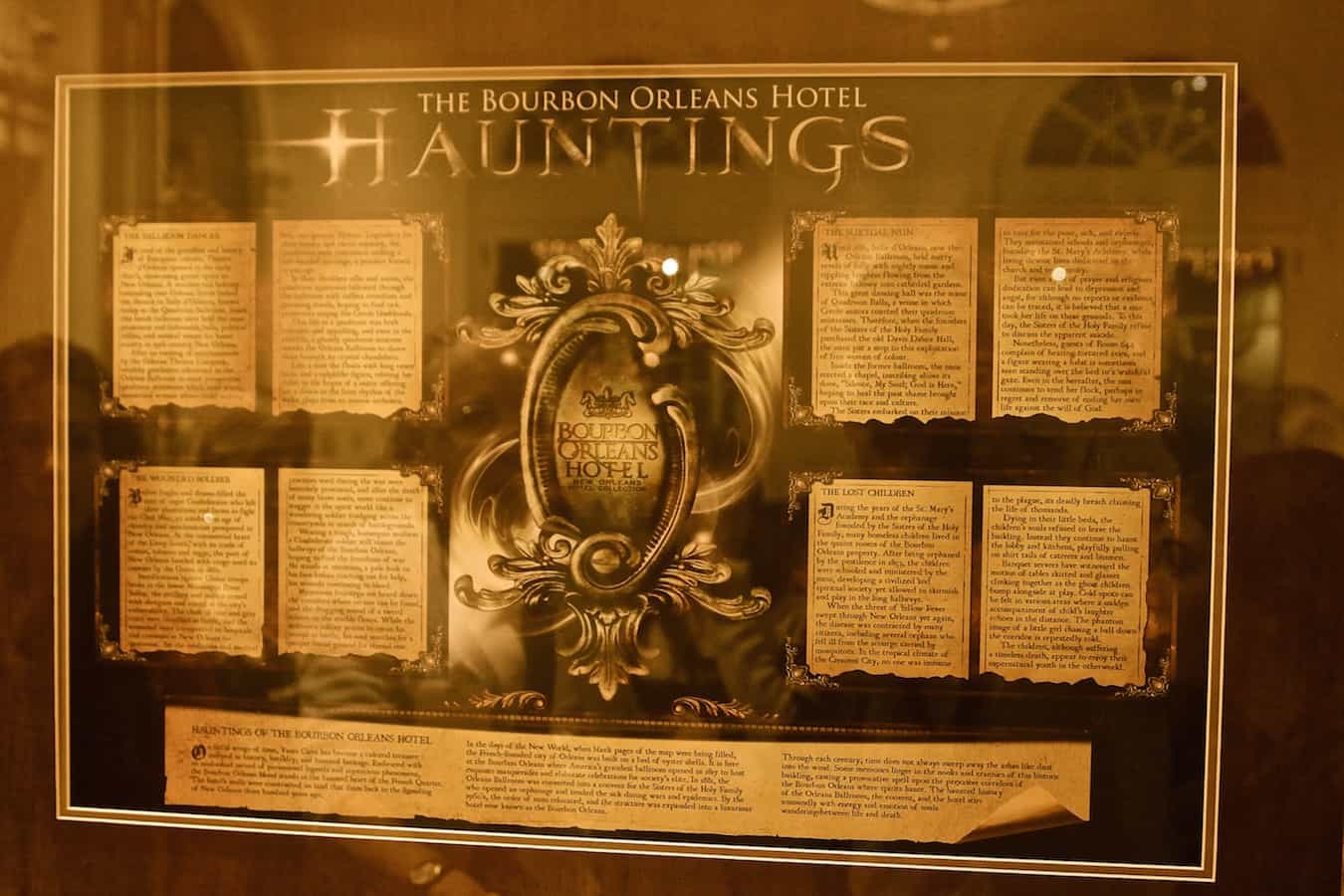 Haunted New Orleans Walking Tour- Bourbon Orleans Hotel