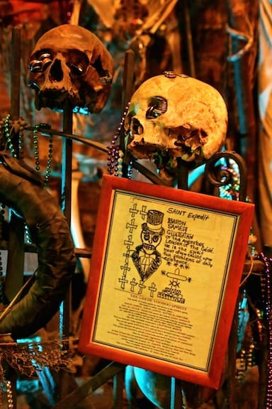 Inside the New Orleans Historic Voodoo Museum, Louisiana