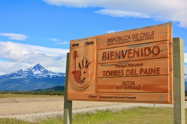 The Entrance to Torres del Paine National Park, Chile