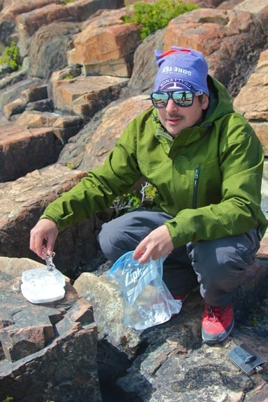 Making Drinks With Glacial Ice From Lago Grey in Torres Del Paine National Park, Chile