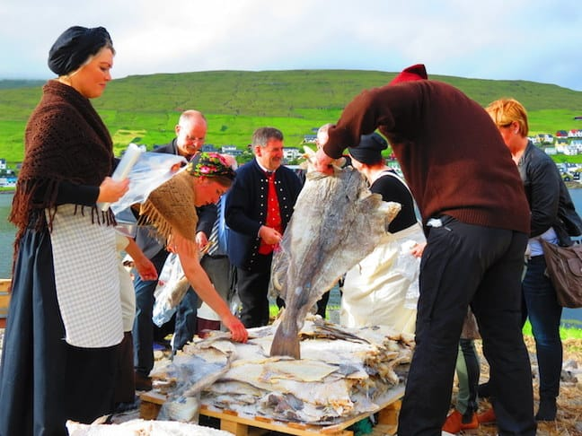 Faroese People Sharing Their Catch, photo by Mike Jerrard