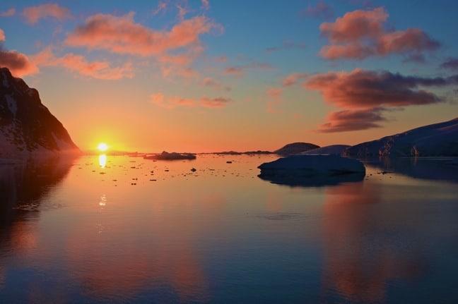 Midnight Sunset in Antarctica
