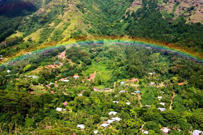 Rainbow Over Valley in Moorea, Tahiti