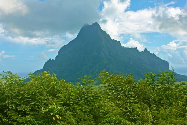 View of Mt Rotui From the Belvedere Lookout, Moorea