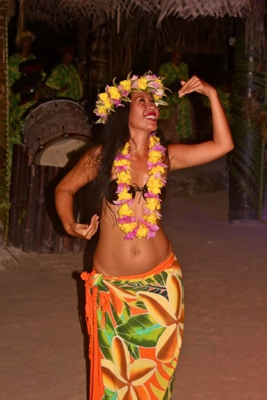 Tahitian Dancer at the Moorea Tiki Village Theatre