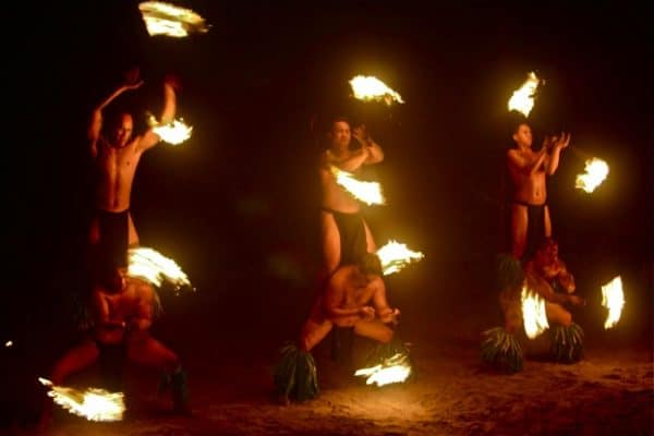 The Grand FInale at Moorea's Tiki Village Theater, Tahiti