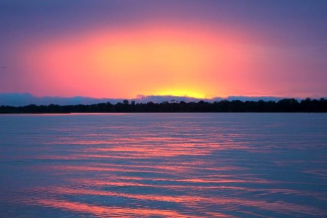 Sunset on The Peruvian Amazon