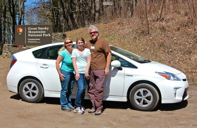 Toyota Prius We Rented for Our North Carolina Road Trip