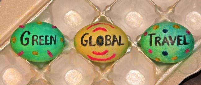 Green Global Travel Easter Eggs