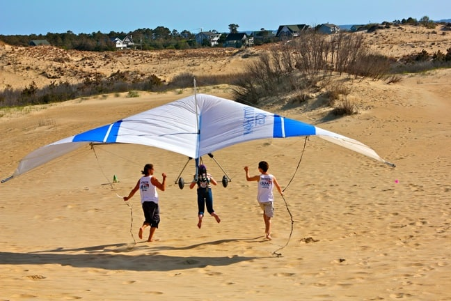 Alex Love, Hang Gliding in Jockey's Ridge State Park, NC