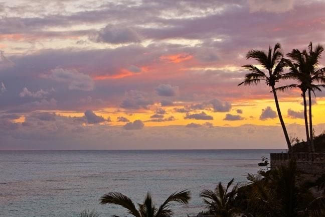 Sunset in Bermuda