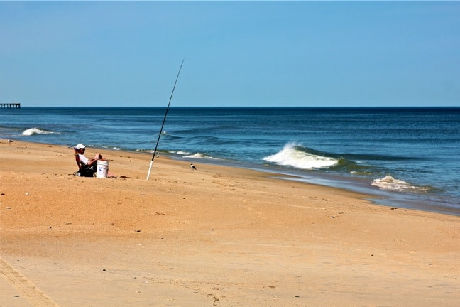 Fisherman in Outer Banks, North Carolina