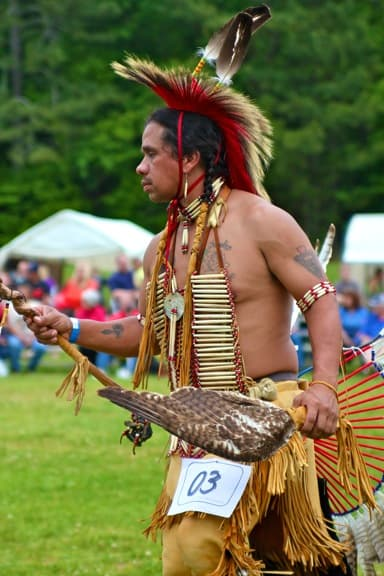 American Indian Dancer at North Georgia Pow Wow