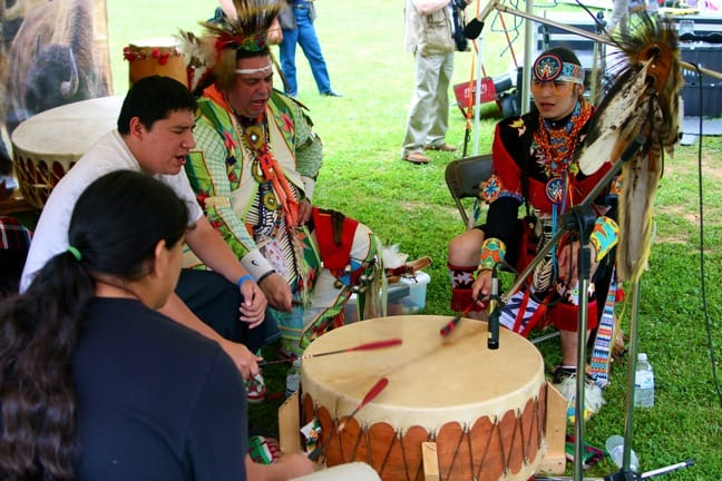 American Indian Drummers at north Georgia Pow Wow