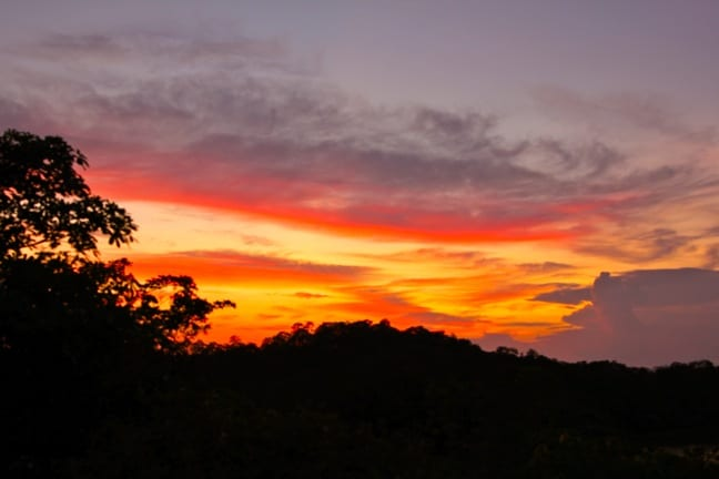 Sunset at Islas Secas, Panama
