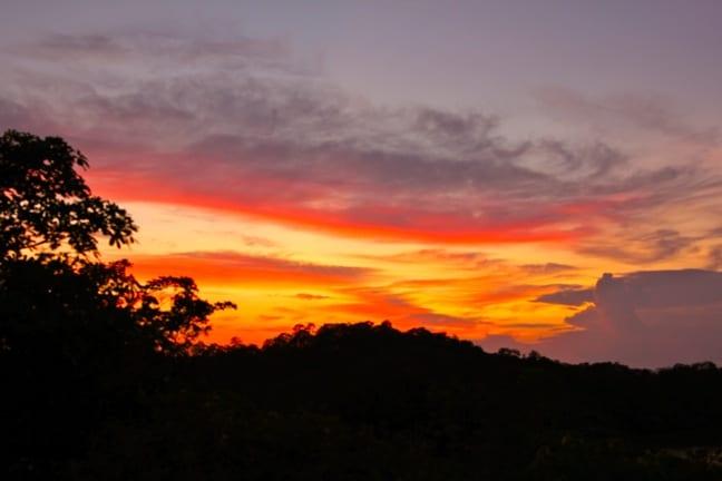 Sunset on Islas Secas, Panama