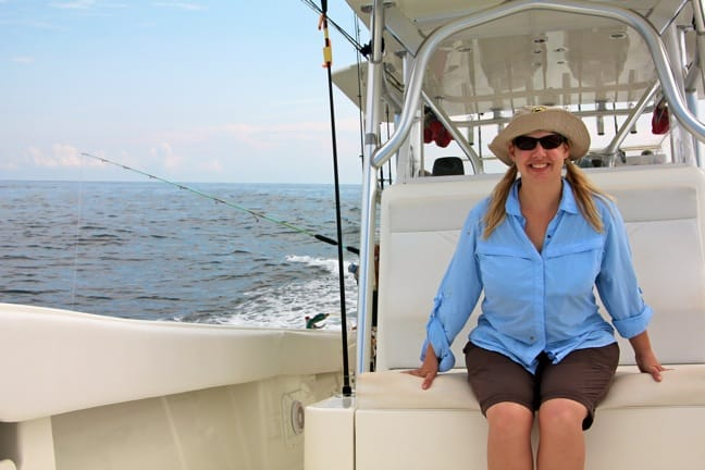 Mary Gabbett of Green Global Travel, Fishing in Panama