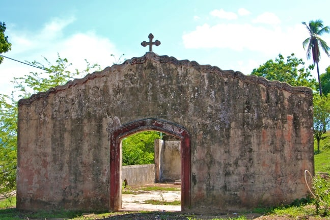 Church Ruins at Coiba Island Prison, Panama