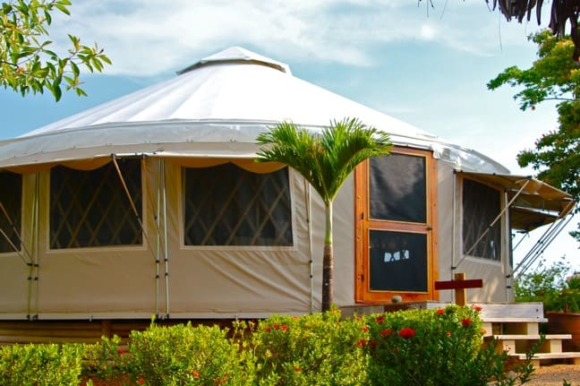Glamping in a Yurt on Islas Secas, Panama