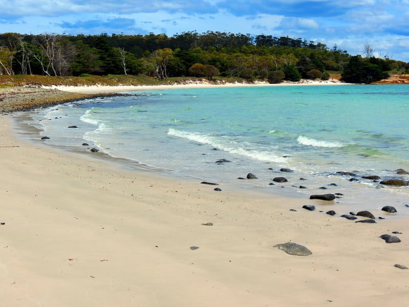 Beach on Maria Island, Australia