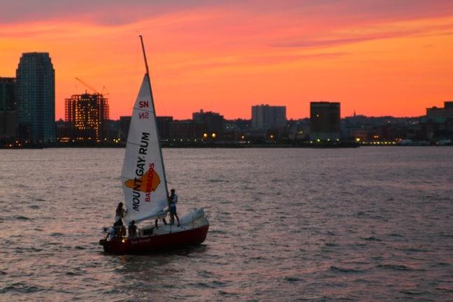 Sunset on the Hudson River, New York