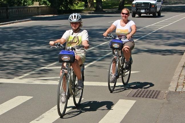 Riding Bikes Around Central Park, New York City