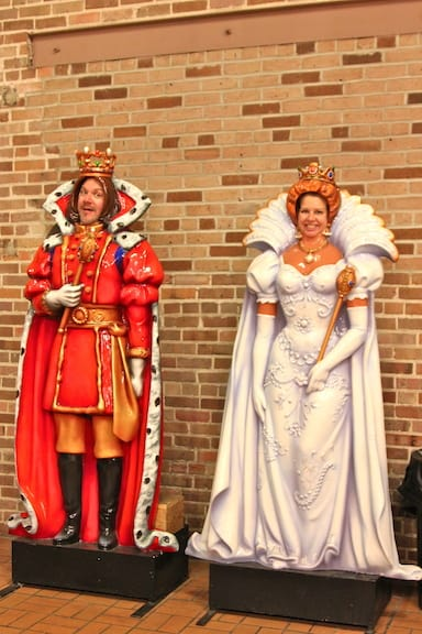 Mardi Gras King and Queen at Mobile Carnival Museum