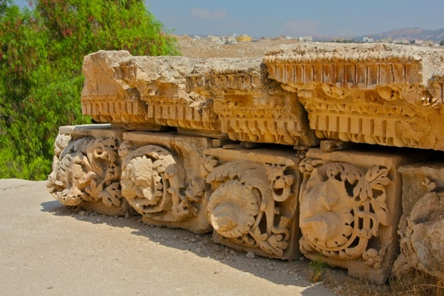 Intricate Details of the Jerash Ruins