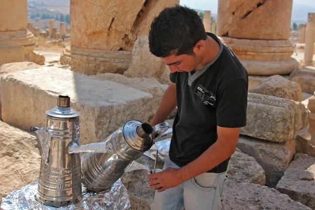 Having Bedouin Tea at Jerash, Jordan