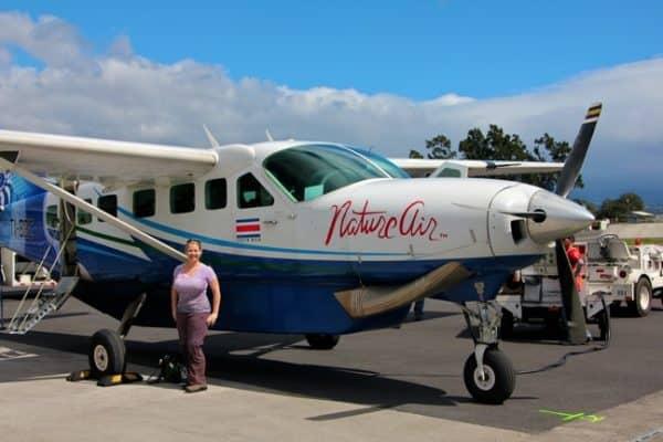 Mary Gabbett readies for #EcoCostaRica flight to Corcovado National Park