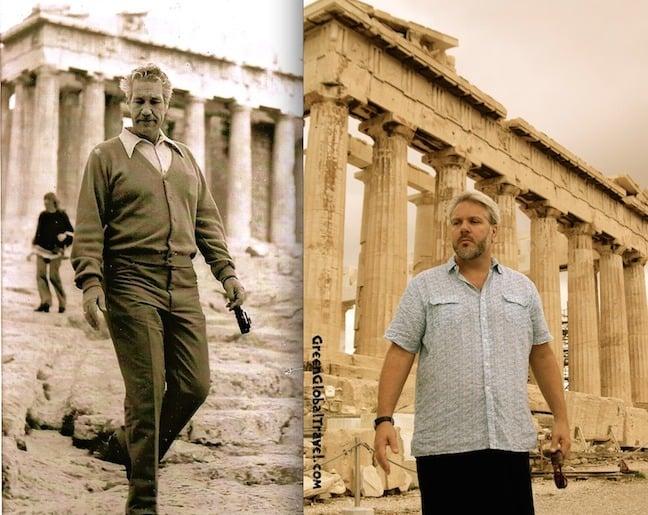 The Athens Parthenon in 1975