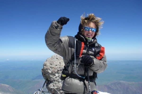 Jordan Romero Atop Mount Vinson, Antarctica