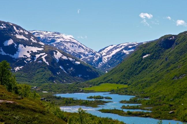 Reflective River in Jotunheimen, Norway