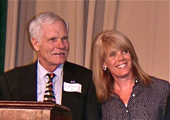 Laura Turner Seydel and Ted Turner