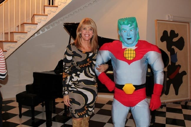 Laura Seydel Turner with Captain Planet