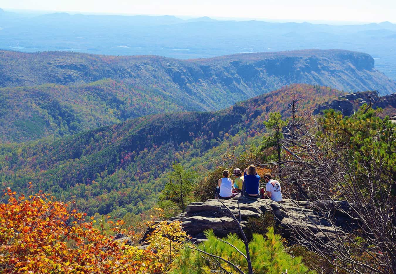 Overlooking Linville Gorge in Asheville, North Carolina