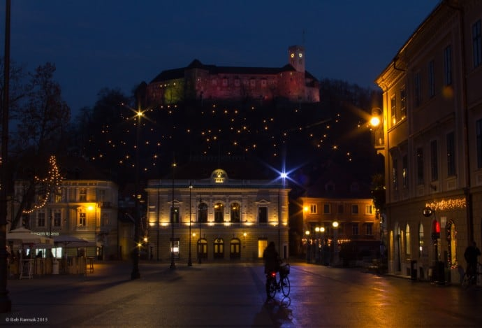 Ljubljana Slovenia - Castle and Congress Square