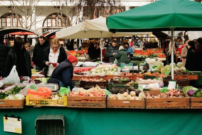 Ljubljana Slovenia - Ljubljana central market