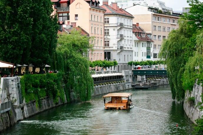 Ljubljana Slovenia - Ljubljanica River