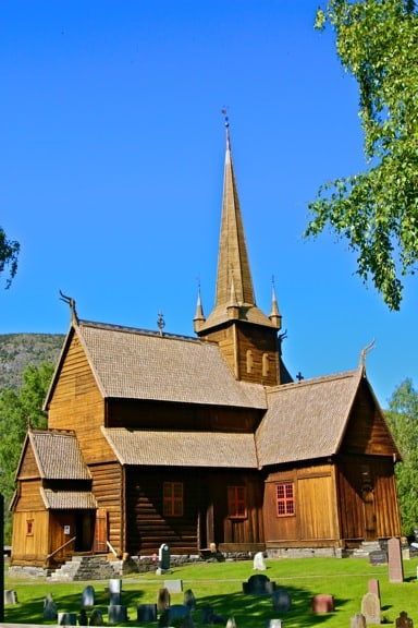 The Stave Church in Lom, Norway