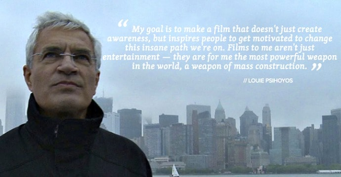 Louie Psihoyos quote from Racing Extinction