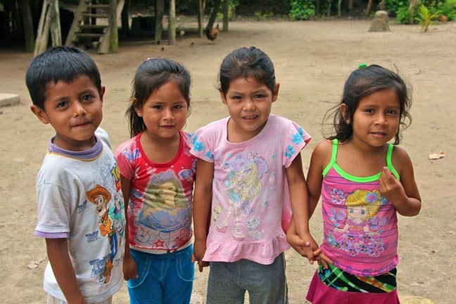 Faces of Peruvian Children of San Jose Village