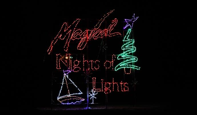 Best Christmas Light Displays in Georgia -Magical Lights, Lake Lanier Islands