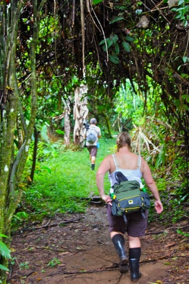 Hiking into Corcovado National Park, Costa Rica
